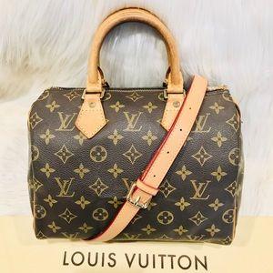 Authentic Louis Vuitton Speedy 25 #4.9a